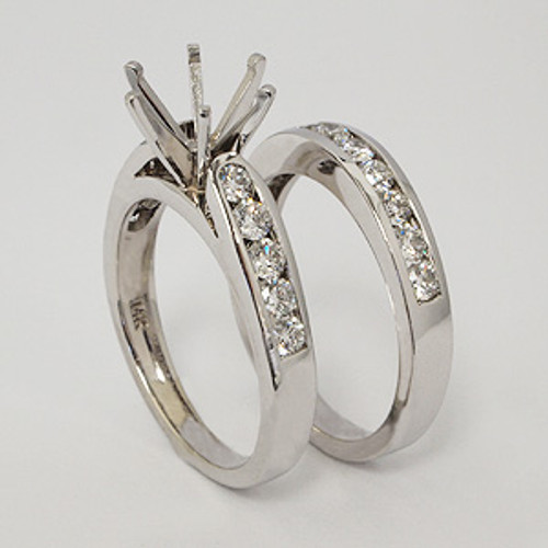 White Gold Wedding Set ws136