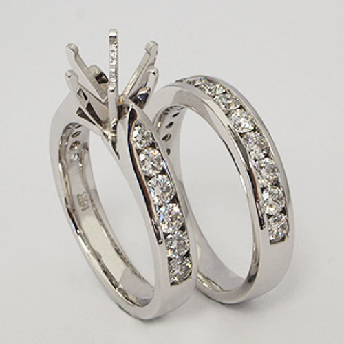 White Gold Wedding Set ws133