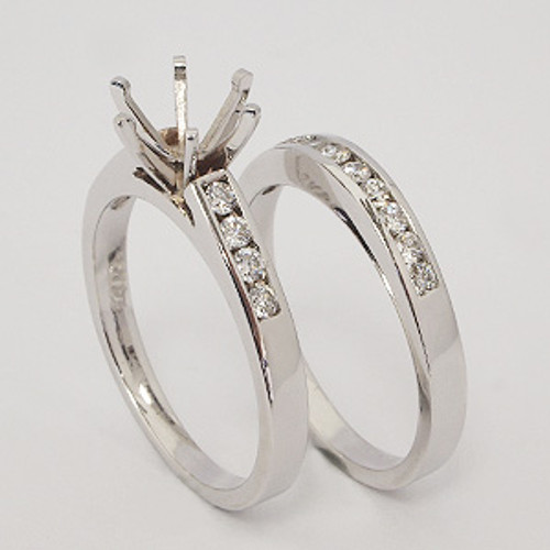 White Gold Wedding Set ws125
