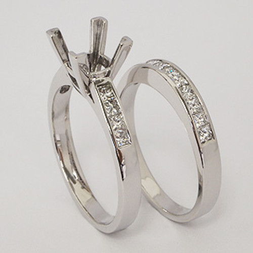 White Gold Wedding Set ws123