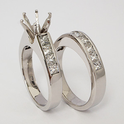 White Gold Wedding Set ws120