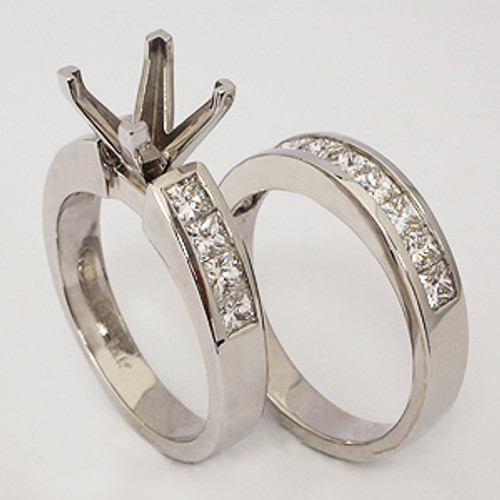 White Gold Wedding Set ws118