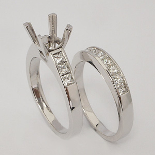 White Gold Wedding Set ws117