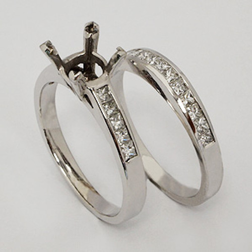 White Gold Wedding Set ws114