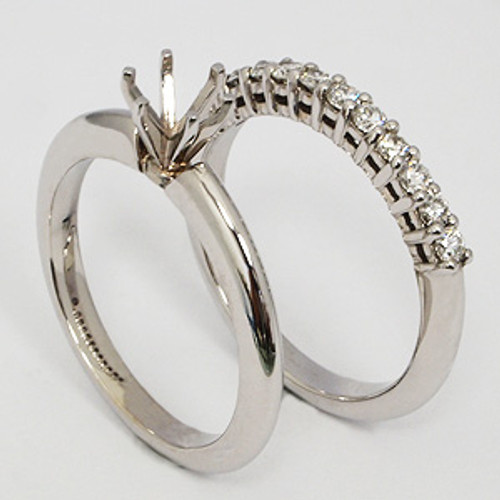 White Gold Wedding Set ws122