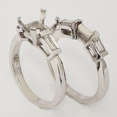 White Gold Wedding Set ws145