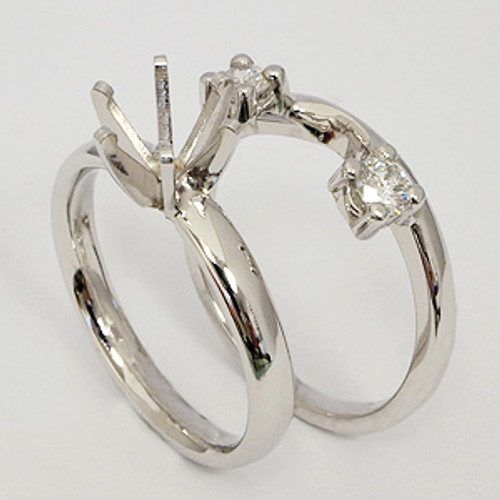 White Gold Wedding Set ws124