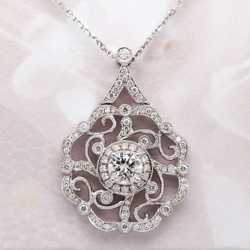 Unique Diamond Medallion Pendant