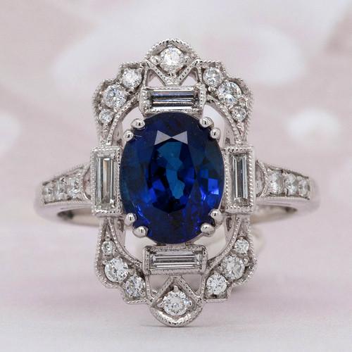Unique Sapphire and Diamond Ring