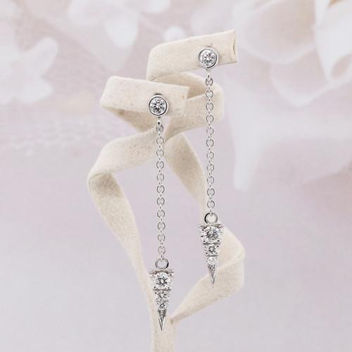 Diamond Long Chain Earrings
