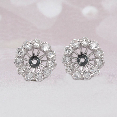 Diamond Earring Jackets For Stud Solitaire