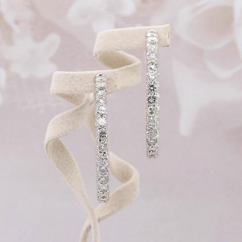 Diamond Eternity Hoop Earrings
