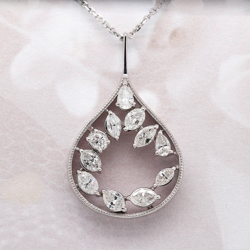 Free form diamond pendant