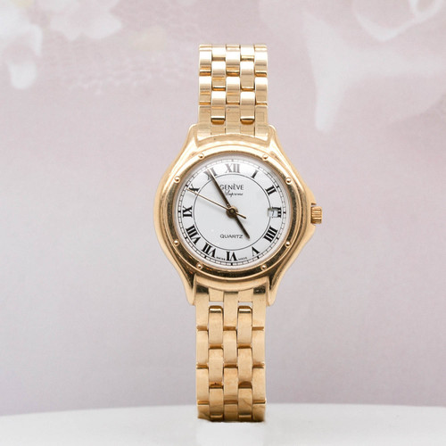 14 KT YELLOW GOLD GENEVE WATCH