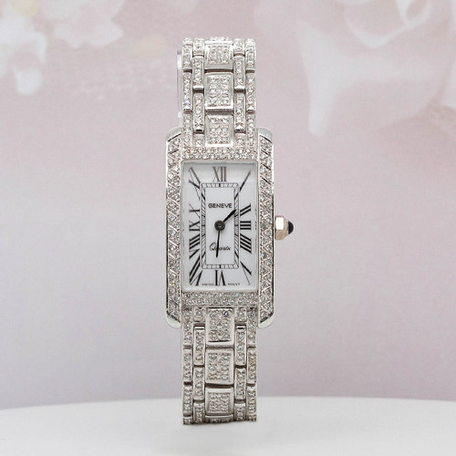 18 KT White Gold Geneve Diamond Watch