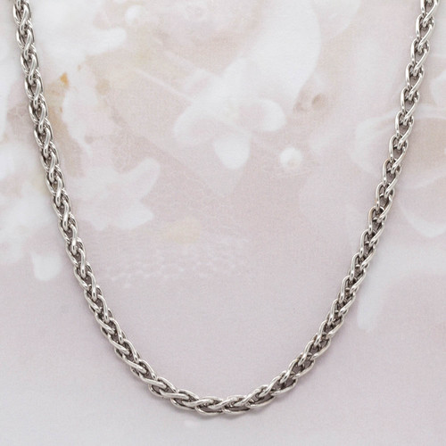 14 KT white gold chain