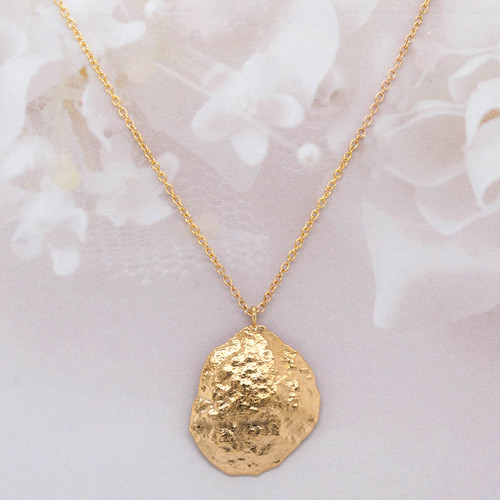 14 KT Yellow Gold Medallion Pendant