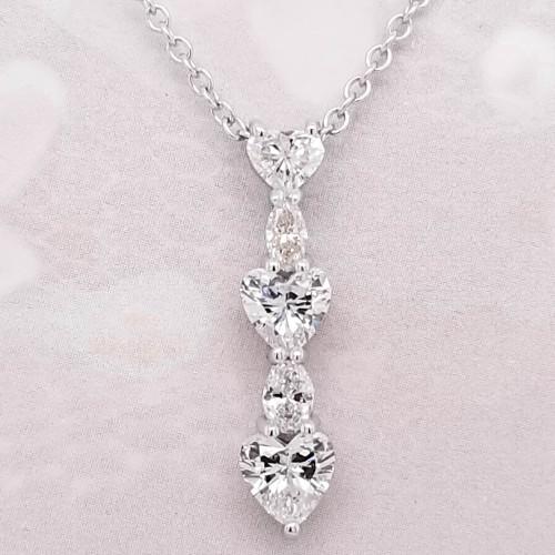 Unique five diamond pendant