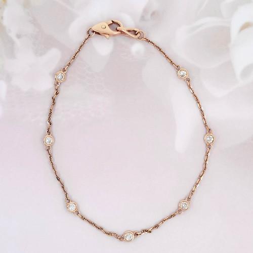Diamond Station Tennis Bracelet