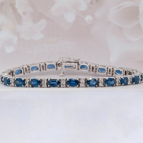 Sapphire and Diamond Tennis Bracelet