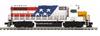 MTH Premier ICG 1776 (the American Eagle)  GP-38-2, 2 rail, Proto 3.0, DCC