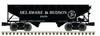 Pre-order for Atlas O (fmr mth) D&H  2 bay offset  hopper car, 3 rail