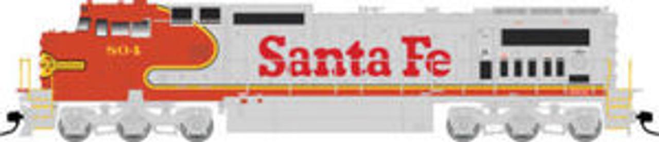 Atlas O Santa Fe Dash 8-40CW, 2r, sound, exhaust, DCC equipped
