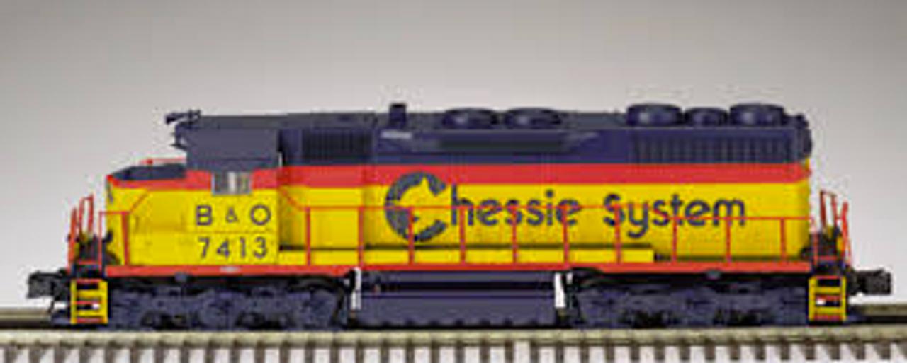 Atlas O Chessie/B&O  SD-35,  3 rail, TMCC