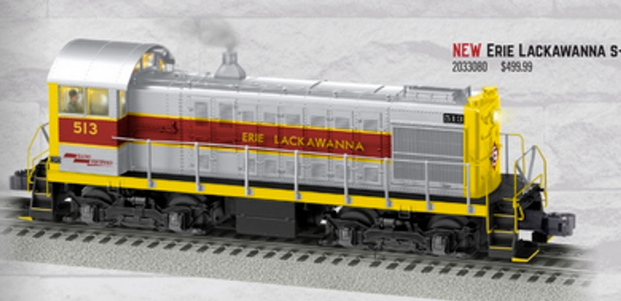 Lionel Legacy Erie Lackawanna  Alco S-4 switcher, 3 rail