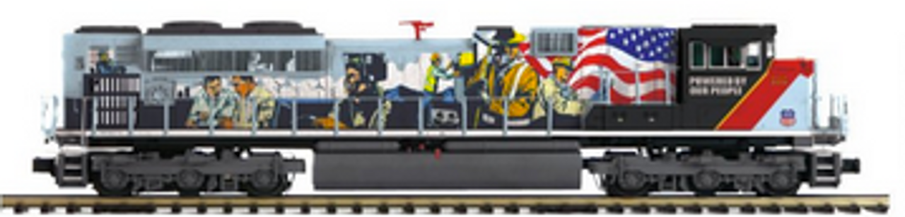 MTH Premier UP 1111 (UP People) SD70ACe, 2 rail, Proto 3.0, DCC