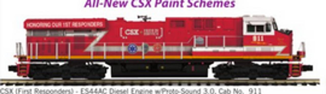 MTH Premier CSX (1st Responders)  ES-44, 3 rail, P3.0