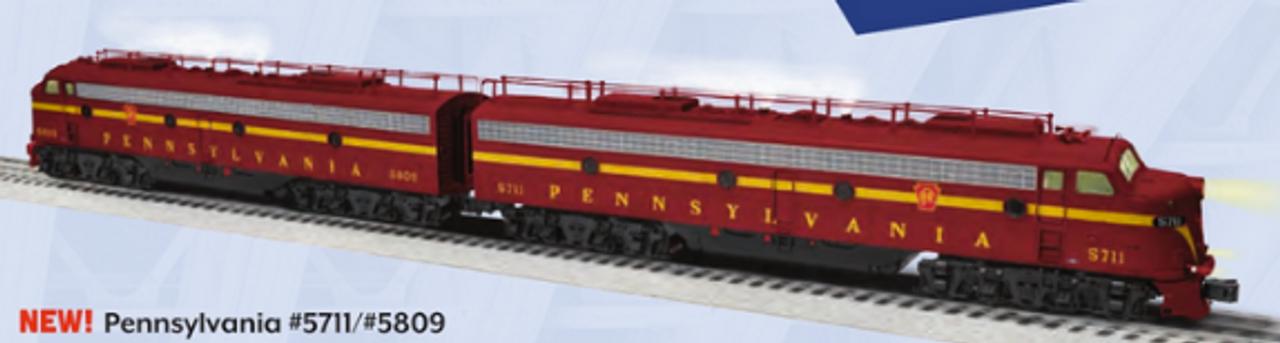 Lionel Legacy PRR E-8 A-A  diesels, 3 rail