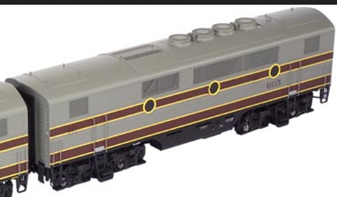 Atlas O Lackawanna  F-3B powered ,  3 rail