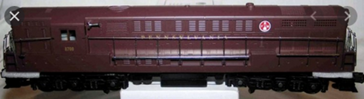 Williams PRR (Tuscan, shiny finish)  FM H24-66 Trainmaster  diesel, 3 rail, conventional operation