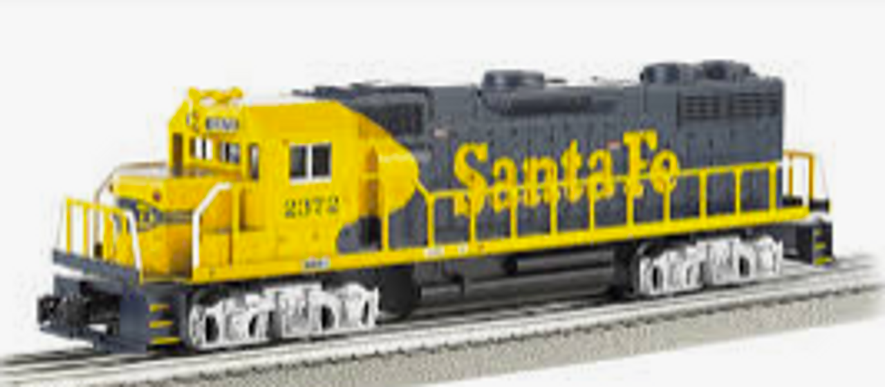 Williams Santa Fe GP-38   diesel, 3 rail, conventional operation