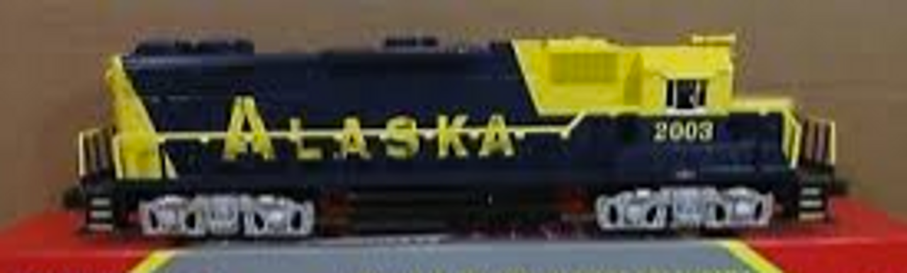 Williams Alaska RR  GP-38   diesel, 3 rail, conventional operation