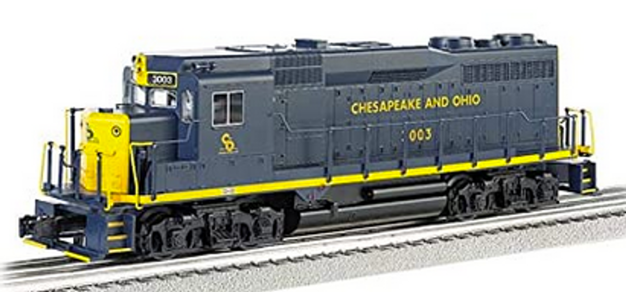Williams C&O GP-30   diesel, 3 rail, conventional operation