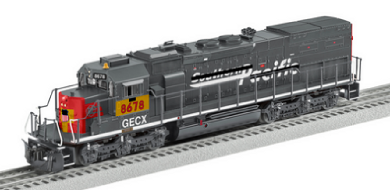 """Lionel Legacy  SP (GECX/UP patch) SD40T-2  """"tunnel motor"""" , 3 rail"""