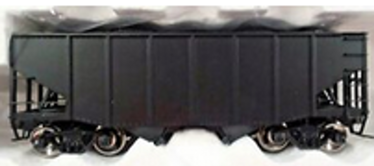 Pre-order for MTH Premier  special run unlettered 2 bay fishbelly  hopper car, 3 rail or 2 rail