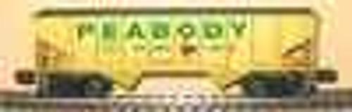 Weaver Peabody Coal 2 bay hopper car, 3 rail or 2 rail