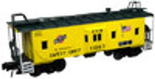 Atlas O C&NW Bay window caboose,  3 rail