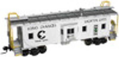 Atlas O Chessie Safety (white) Bay window caboose,2 rail