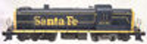 Atlas O Santa Fe (blue)  Alco  RSD-5 diesel, 3 rail, horn and bell