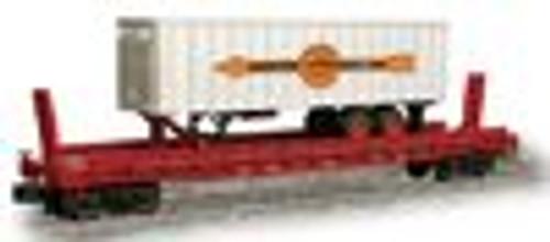 Weaver Cooper-Jarrett trailer on CB&Q  flat car
