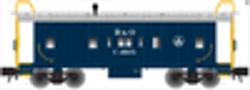 Atlas O B&O (blue) bay window caboose, 3 rail