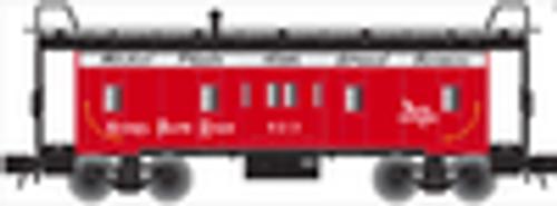 Atlas O NKP bay window caboose, 3 rail