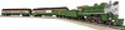 Atlas Industrial Rail  Yultide  Steam engine and passenger cars, 3 rail, traditional size