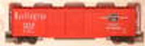 Pecos River  Burlington (CBQ) red  50' double door box car