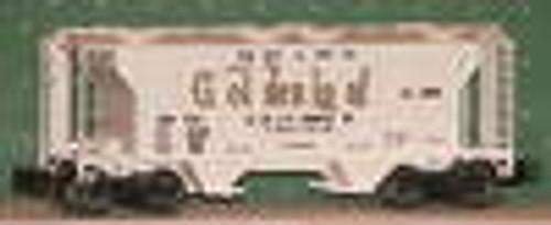 Weaver Golden Loaf PS-2 covered hopper car, 3 or 2 rail