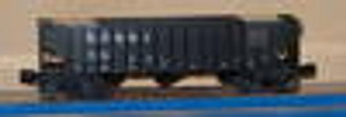 Weaver CB&Q black 3 bay hopper car, 3 rail or 2 rail